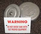 Inspection Pipe Caps & Tank Warning Labels